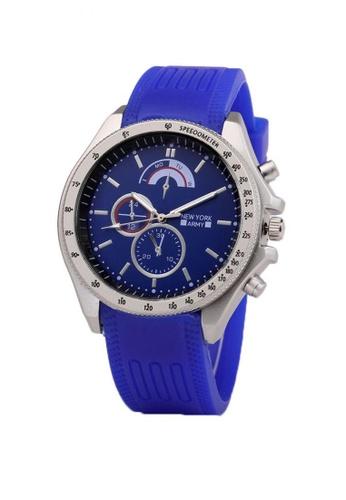Greatvalueplus blue Newyork Army Men's Analog Silicone Watch 780C1AC16EB244GS_1