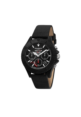 Sector black SECTOR Save The Ocean Black Leather Men's Watches R3271739002 BD2B6ACF00D906GS_1