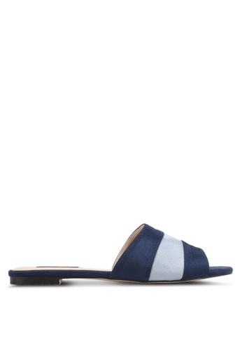 ZALORA navy Dual Toned Sandals DD7E8SH562D6C7GS_1