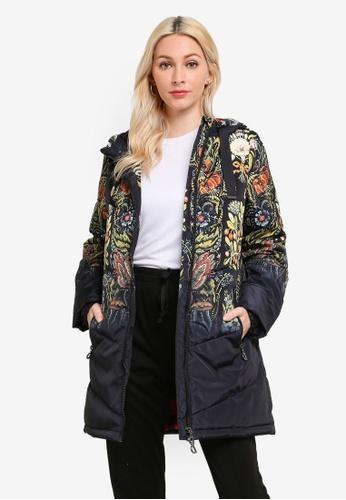 Desigual black Loose Embroidered Print Jacket 5B61CAA1D99D68GS_1