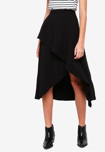ESPRIT black Woven Midi Skirt 262C3AA51FEB49GS_1