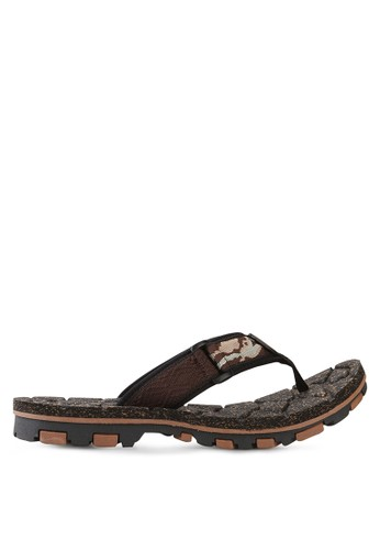 Homyped brown Fox 01 Men Sport Flip Flops HO842SH09HYCID_1
