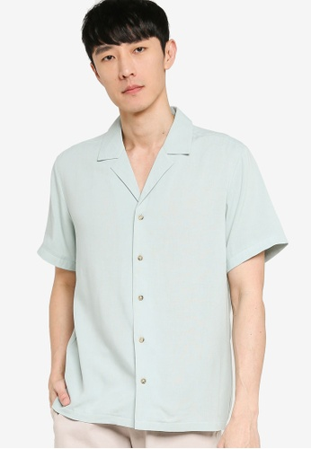 ZALORA BASICS green Relaxed Shirt E5DFCAA82F9B77GS_1