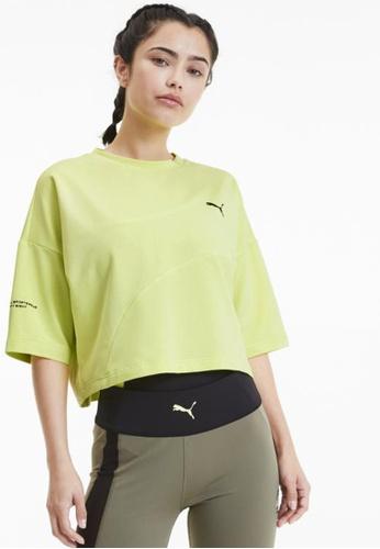 puma green Evide Form Stripe Cropped Women's Tee 84AD4AAE94934FGS_1