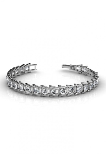 Her Jewellery silver Her Jewellery Simply Bracelet with Premium Grade Crystals from Austria HE581AC0RALPMY_1