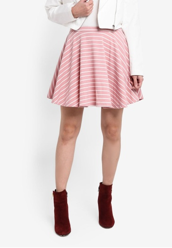 Something Borrowed white and pink High Waist Skater Skirt 9AC48AA9BE0790GS_1