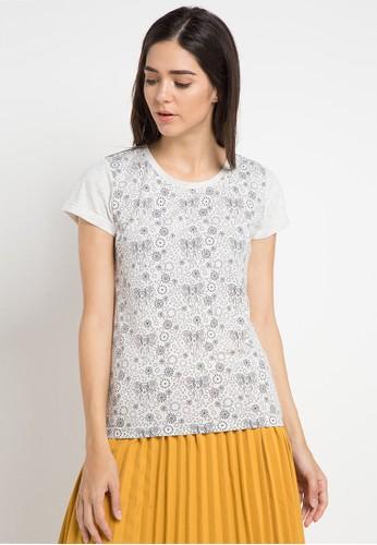 MEIJI-JOY multi Print Elephant short sleeve Tshirt 30E3CAA027CB65GS_1