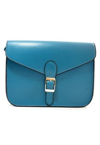 Jackbox blue Korean Casual PU Leather Shoulder Sling Bag 311 (Blue) JA762AC16DIXMY_1
