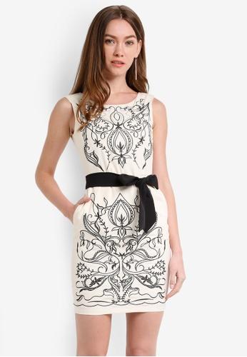 Megane beige Carolina Embroidery Dress ME617AA0RR3PMY_1
