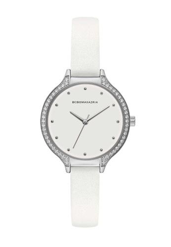 BCBG white BCBGMAXAZRIA White Leather Watch E922EAC5162B93GS_1