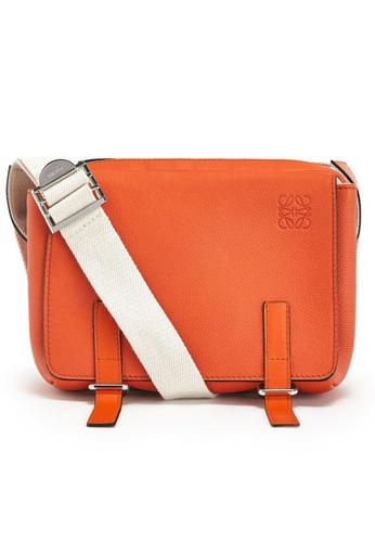 LOEWE orange Loewe XS Military Messenger Bag in Orange C7D27ACF70001FGS_1