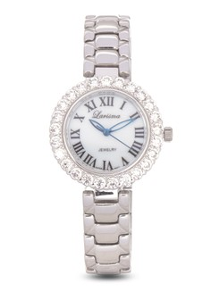 Analog Watch with CZ Crystals