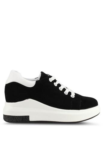 Spiffy black Korean Trendy Design Sneakers 0014BSH6138D67GS_1