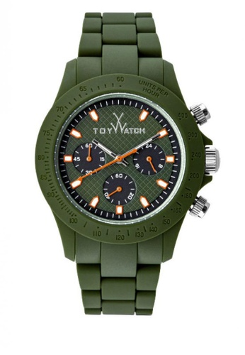 ToyWatch green Velverty Chrono Collection Green Silicone Rubber Strap Unisex Watch TO276AC22CPPMY_1