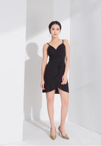 Zafiti black Frill Dress 8C514AAB20A58AGS_1