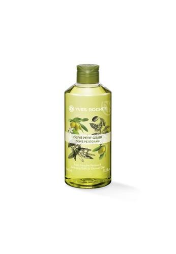 Yves Rocher green Relaxing Olive Petit Grain Bath Shower Gel 400ml YV460BE14LLDSG_1