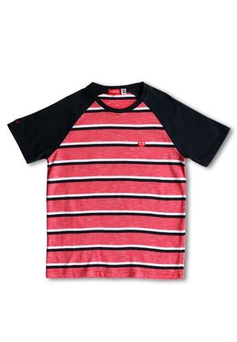 Osella Kids red Osella Baju Anak Laki Laki Tshirt Stripe Red B2626KA9D4FE29GS_1