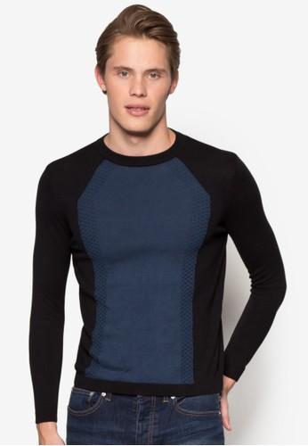 色塊針織長袖衫, 服飾esprit衣服目錄, 運動衫