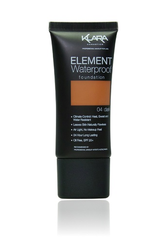 KLARA COSMETICS brown Element Waterproof Foundation 04 - Dark 8CD4FBE998713BGS_1