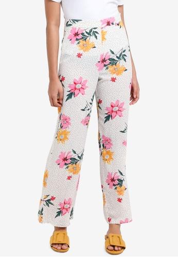 Miss Selfridge beige Petite Ivory Wide Leg Trousers 9BBDFAA3F7EDEAGS_1