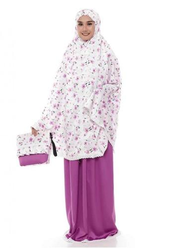 First Hijab white and purple Mukena Nisma in White 1A080AA19ABEB8GS_1