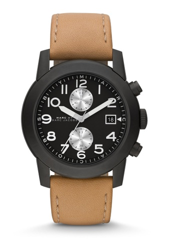 Marc Jacobs brown Larry Analog Chronograph Watch MA933AC0K8YFPH_1