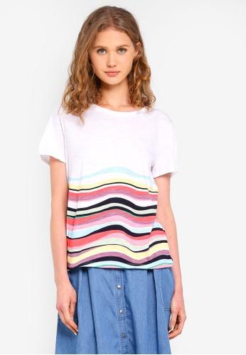 ESPRIT white and multi Short Sleeve T-Shirt F737EAA0F17B5FGS_1