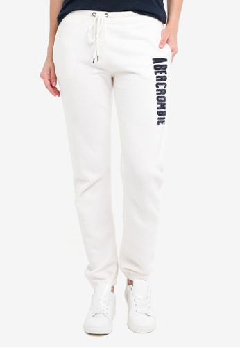 Abercrombie & Fitch white Long Life Summer Banded Pants A6D39AA8807332GS_1