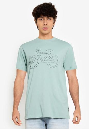 Springfield green Bike T-Shirt 1B76AAA75E1DAEGS_1