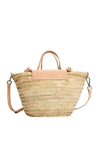 Mango pink Leather Handmade Basket Bag 5A5C9ACFFF866FGS_1