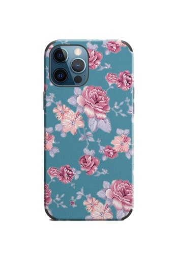 Kings Collection blue Floral Pattern iPhone 12 Pro / 12 Case (KCMCL2410) F4F36AC56DAB1BGS_1