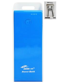 Powerbank 6800mah with Free Soul Super Bass Headset