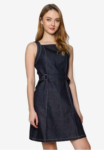 Saturday Club blue Denim Dress With Waist Panel 5667BAA48846E3GS_1