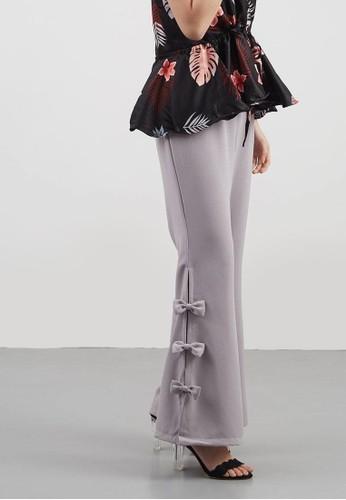 Berrybenka Label grey Chloe Bow Pants Grey EB84DAA41538C4GS_1