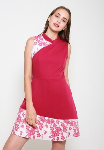 Leline Style pink Haley Oriental Dress 74A9BAAD12FE8AGS_1