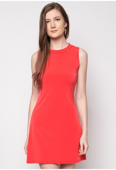 Katherine Ribbed Round Neck Mini Dress