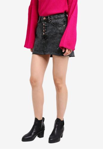 Glamorous grey Denim Mini Skirt GL059AA0SM0NMY_1