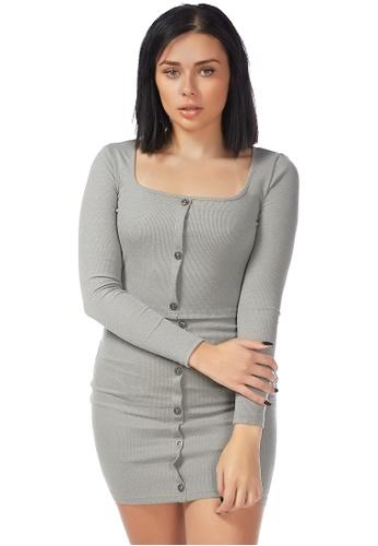 London Rag 灰色 时尚黑色针织上衣 41684AA609A6A1GS_1