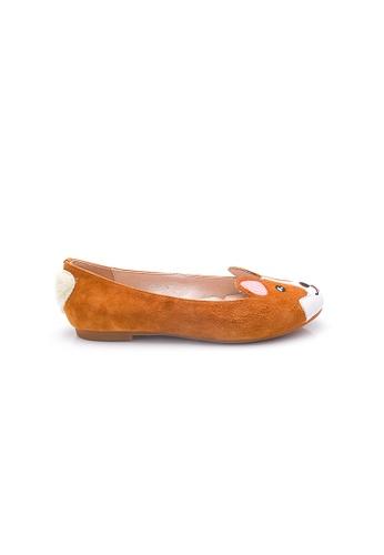 Elisa Litz brown Corgi Flats (Brown) 62251SHBD44AA7GS_1