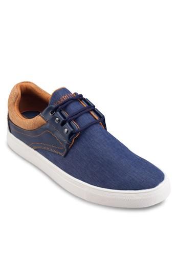 仿皮拼接繫帶休閒鞋, 鞋,esprit台灣outlet 鞋