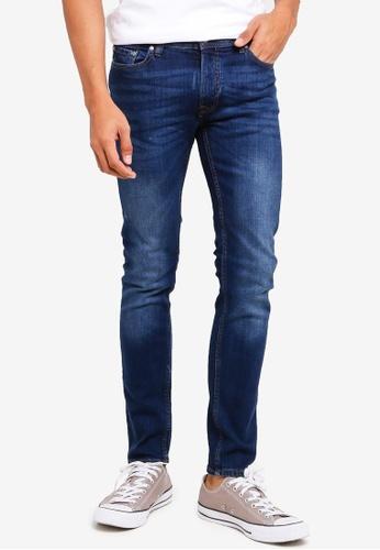 MANGO Man blue Slim-Fit Faded Dark Wash Jan Jeans F7151AA7B2753AGS_1