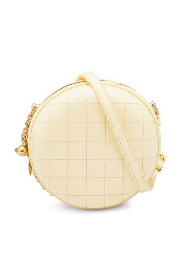 nose yellow Round Shape Crossbody Bag 9C401AC5DA075BGS_1