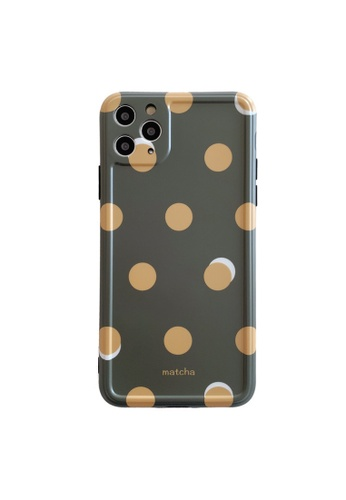 Kings Collection green Circle Pattern iPhone 12 Case (KCMCL2386) A91B7ACE96FD83GS_1
