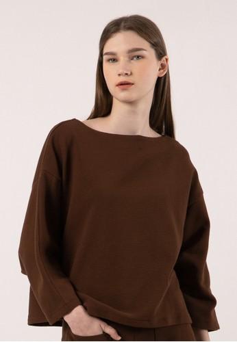 et cetera brown Dolman Sleeve Sweater 4E4A8AA68415E1GS_1