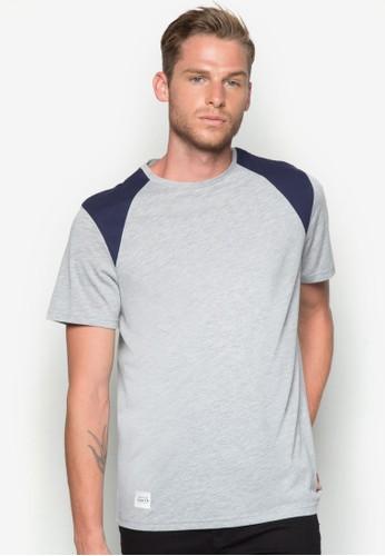 色塊esprit鞋子拼肩T 恤, 服飾, T恤