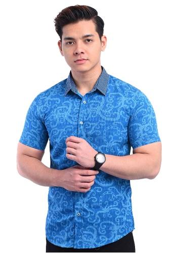 UA BOUTIQUE blue Shirt Batik RBS13-041 (Blue) 123B2AAF247315GS_1