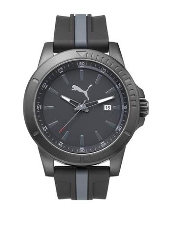 PUMA grey Puma Chaser Gunmetal/Grey Funky Watch PU440AC29CTYSG_1