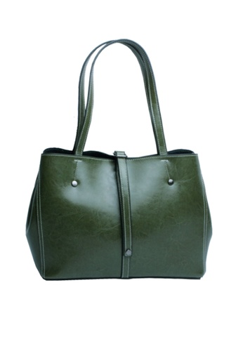 Twenty Eight Shoes green VANSA Cow Leather Hand Bag VBW-Tb7028 20EE3AC2C94DF4GS_1