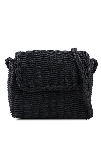 Rubi black Boxy Woven Cross Body Bag 224F7AC3B55C7FGS_1