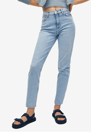 Mango blue Mom-Fit Jeans 78DA4AA6428653GS_1